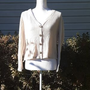 Oatmeal V-Neck Sweater